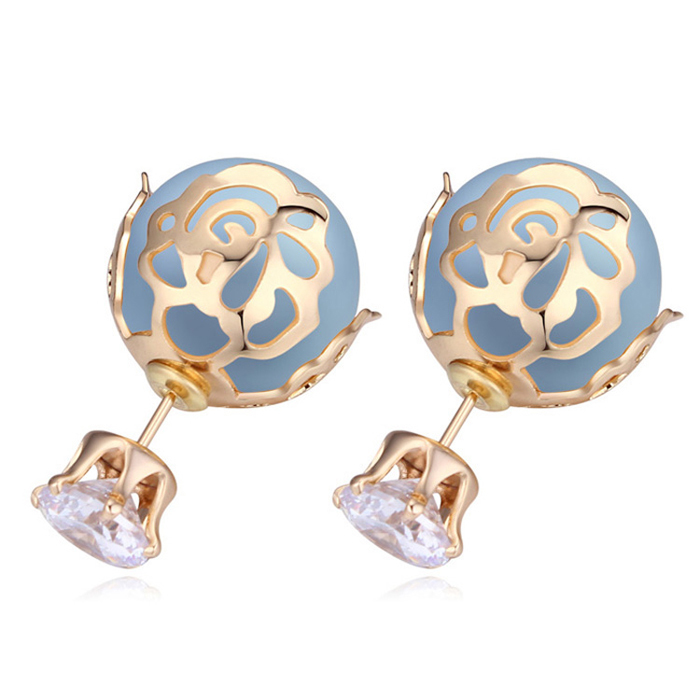 fashion jewelry womens accessories gold pearl earrings hypoallergenic jewellery wholesale(China (Mainland))