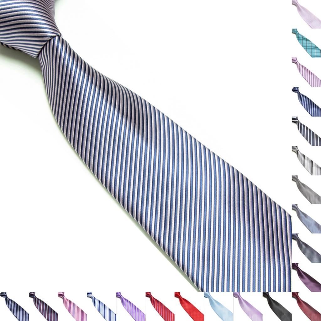 Men's Necktie Charm Classic Striped Tie JACQUARD WOVEN 100% Silk Suits Ties(China (Mainland))