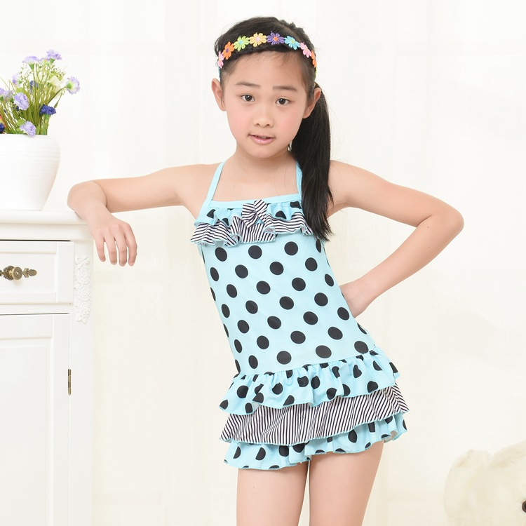 2015 New Summer Girl One Piece Swimwear Baby Children ...