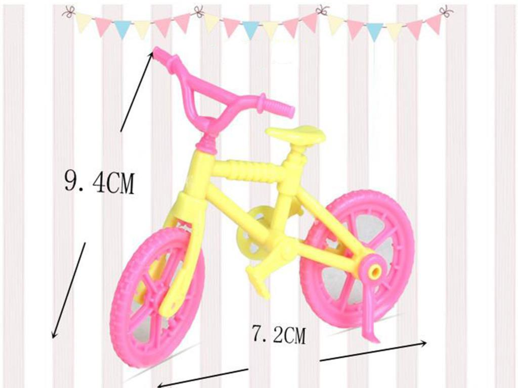 Youngsters Toy Set Miniature 1/12 Dollhouse Toy Scooter & Bicycle Mini Toy for Barbie Doll Home Doll Equipment for Kelly Dolls