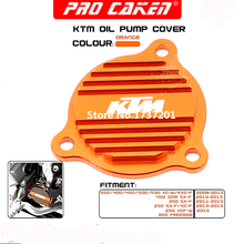 Billet Oil Pump Cover For KTM 250 350 450 400 500 530 SXF XCF XCFW XCW EXCF SXS07450265 Free Shipping(China (Mainland))