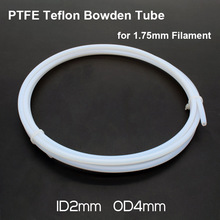 1 Meter PTFE Tube Teflon PiPe to J head hotend RepRap Rostock Bowden Extruder for1 75mm