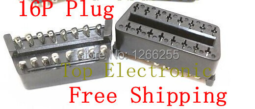 Free Shipping Mercedes Benz 16P female connector OBD Female connector OBD2 Female plug J1962F 10pcs/lot in stock(China (Mainland))