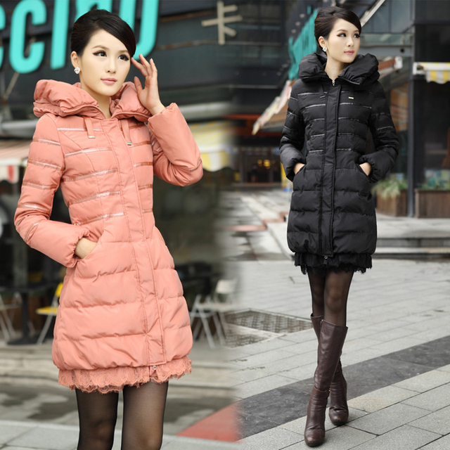 Free shipping 2013 winter new fashion thickening medium-long outerwear women's down coats  0221071301