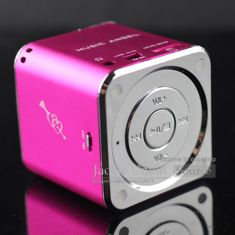 Rose Aluminum MD07 Upgrade Speaker Mini Warna MD07 USB Music Angel Speaker Kotak Suara Kartu TF + 100% Asli(China (Mainland))