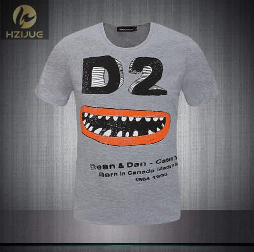 2015 summer style dsq fashion Brand Designer Men s D2 Short Sleeved T shirt High quality