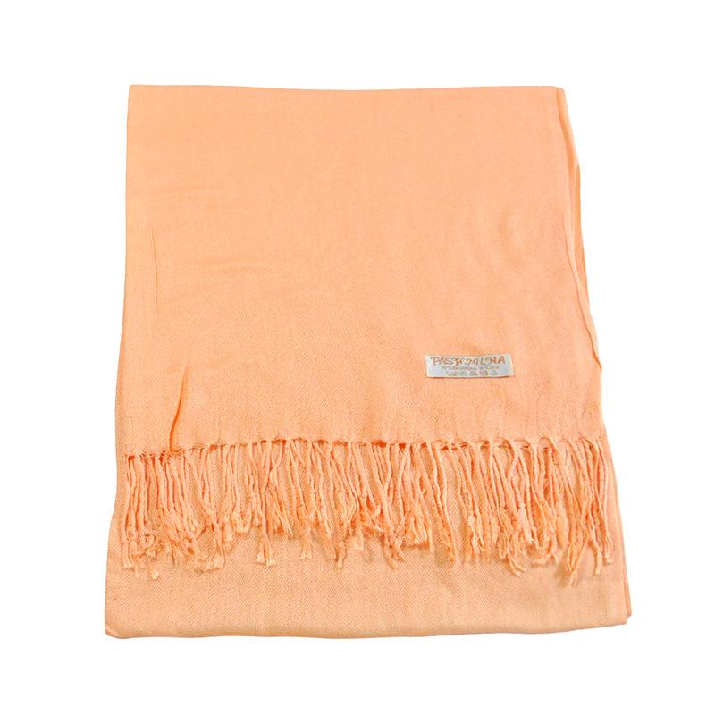 New Long Fringed Unisex Scarves Pure Cashmere Fashion Shawl 7Colors Thermal Muffler Acrylic Neckerchief Warps(China (Mainland))