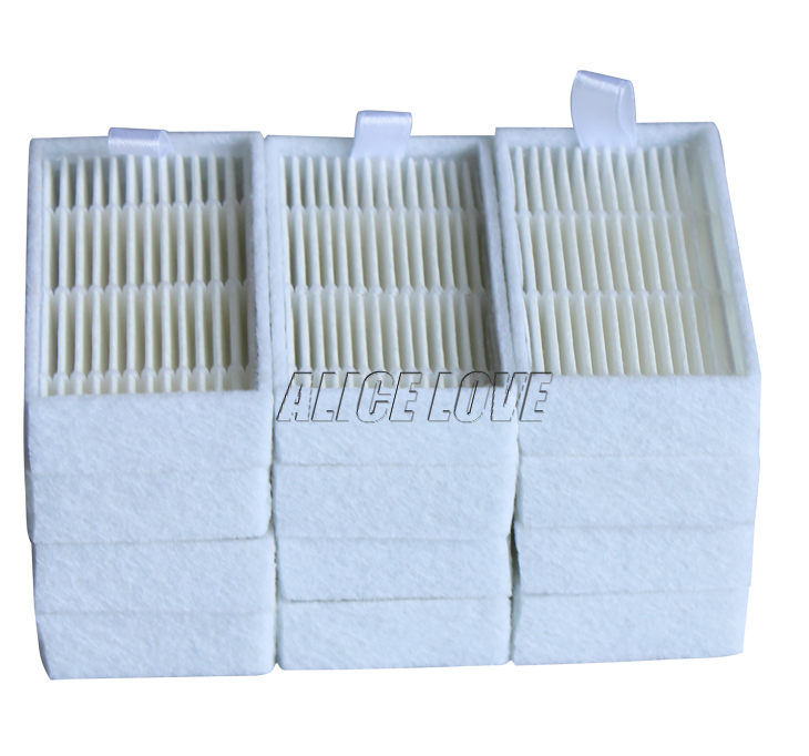 12pcs Vacuum Cleaner Filters HEPA Filter for ECOVACS CR130 cr120 CEN540 CEN250 ML009 CHUWI V3 iLife V5 V3+ V5PRO Cleaner Parts(China (Mainland))