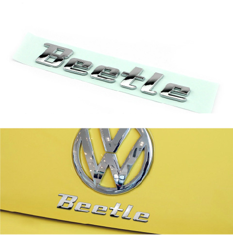 New product auto spare parts car accessory New beetle logo beetle letter bagde beetle emblem chrome
