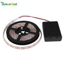 Led Strip Light RGB/Warm/Cool Waterproof IP65 2m/1m/0.5m 3528 SMD LED Flexible Strip Tape String With Battery Box Mini Remote(China (Mainland))