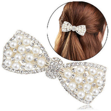 Buy Hair Clips Girls Rhinestone Beautiful Pearls Hairpins Hairclips Headwear Hair Accessories Women Jewelry Hair Ornaments for $1.40 in AliExpress store