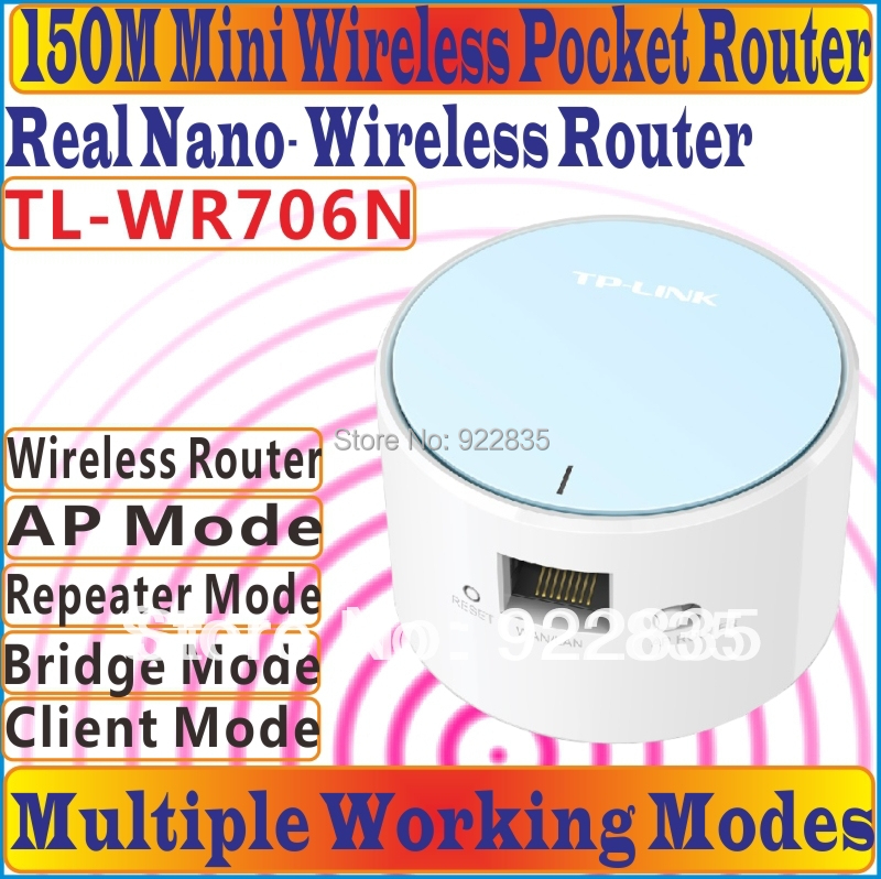 TP-LINK TL WR706N Portable Wireless Wifi Repeater Network Router Mini AP Router Range Expander TL-WR706N With RJ 45 Port WAN/LAN(China (Mainland))