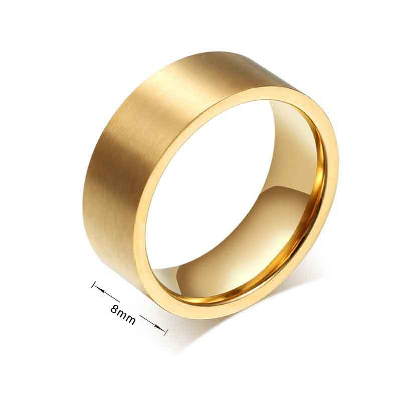 ... Gold Ringe für Mens Big Fashion Wedding Bands Edelstahl Schmuck Ring