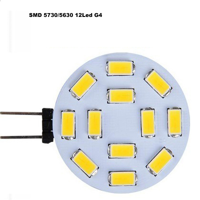 G4 12leds 5730 SMD LED Marine RV Cabinet Yacht Camper Light Bright White / warm white good price shipping free(China (Mainland))