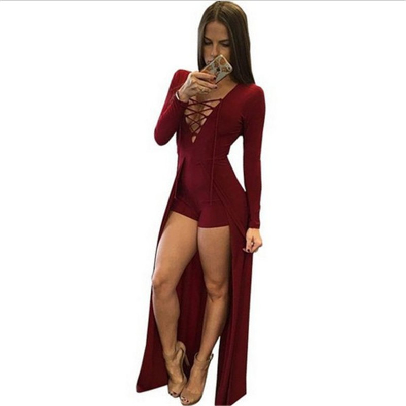 Elegant New 2015 Women Jumpsuit Pants Women Sexy Casual Slim Bandage Rompers