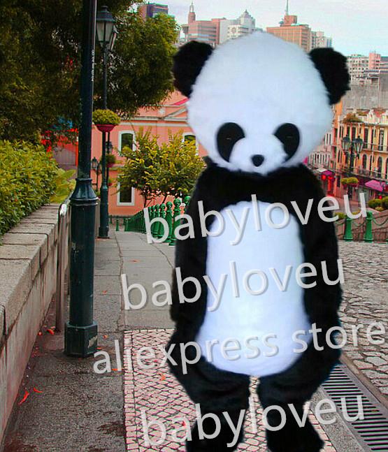 New panda bear Mascot Costume custom fancy bear costume anime cosplay kits mascotte theme fancy dress carnival costume(China (Mainland))