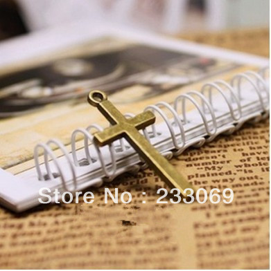 50pcs 15*30mm Vintage Brass Crosses Jewelry Charms Jewelry Findings Fit Jewelry Making Pendants(China (Mainland))