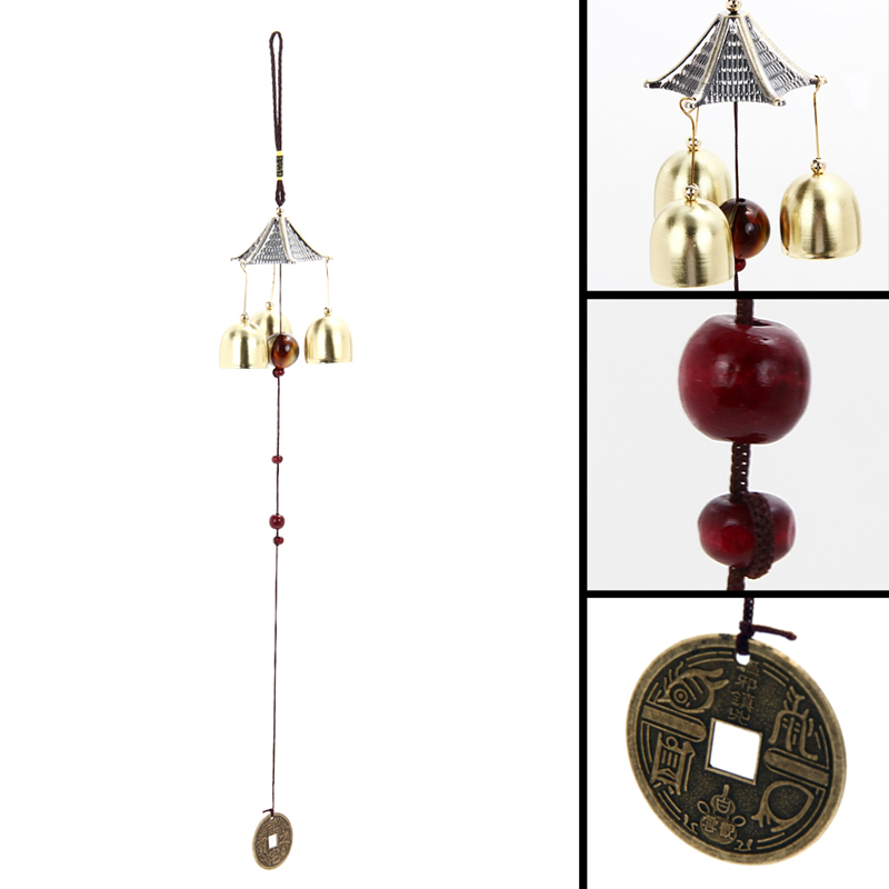 Outdoor Living Wind Chimes Yard Garden Tubes Bells Copper 3 Tubes for hanging on the door windows or Inside Free Shipping(China (Mainland))
