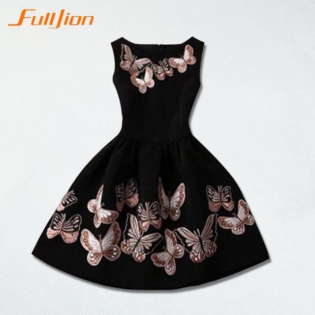 2016 летний стиль шеи без рукавов женщин о бабочка печать платье свободного покроя пляж платье напечатаны ну вечеринку клуб сексуальное элегантное платье