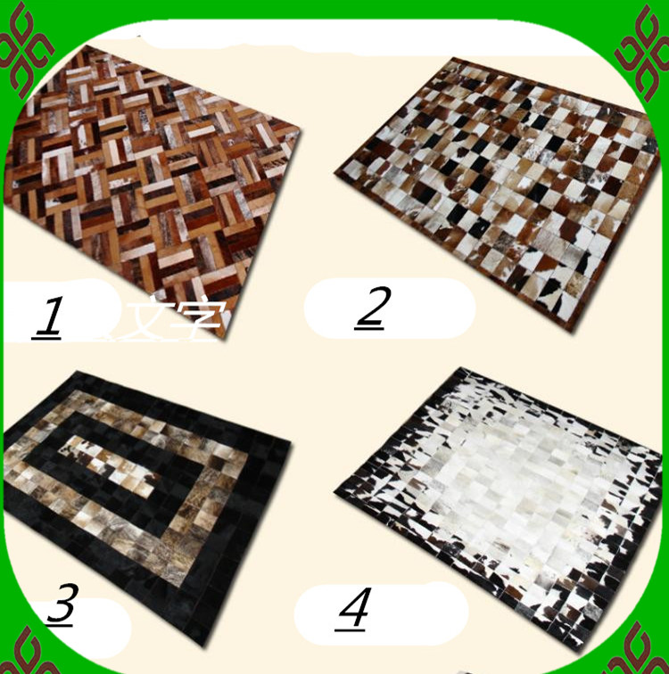 Free shipping 1 piece via DHL 100% natural cow leather floor mats for hardwood floors(China (Mainland))