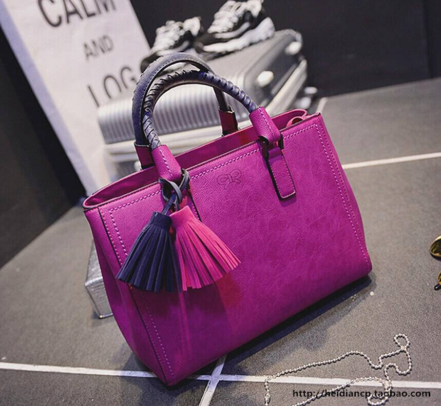 2015 womens handbag red handbag tassel one shoulder handbag messenger bag  balck blue handbag <br><br>Aliexpress