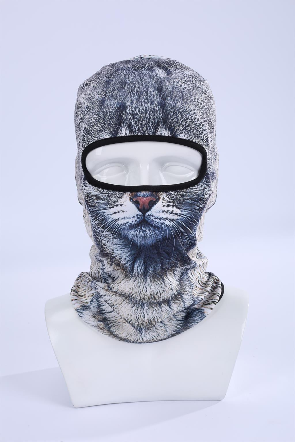 Hot Sale 2016 COOL New 3D Cat Animal Ski Hood Hat Balaclava Full Face Mask Outdoor