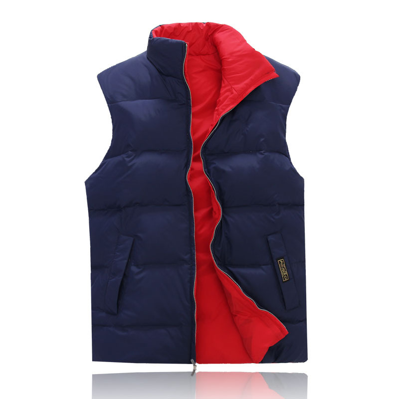 Factory direct sales 80% white duck down Men Polo down jacket coat collar men's cultivate one's morality double-sided vest(China (Mainland))