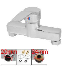 Гаджет  Bathing Sink Solid Brass Flat Handle Shower Mixer Faucet Tap w Install Parts Free Shipping None Строительство и Недвижимость