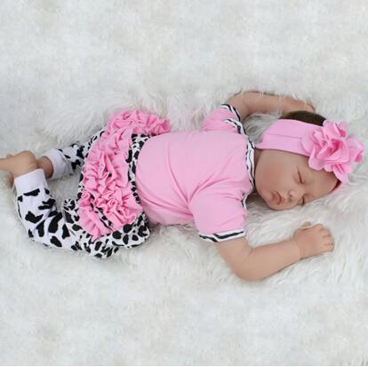 22 inch Silicone Baby doll reborn Sleeping reborn-babies boneca children toys bebe menina <br><br>Aliexpress
