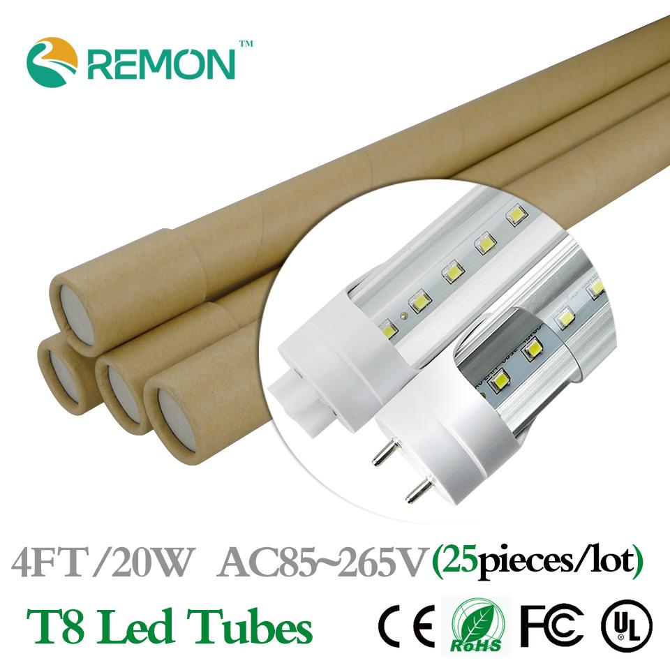 led tube 4ft g13 20w 25pcs 1200mm t8 led bulbs tubes light ac85 265v. Black Bedroom Furniture Sets. Home Design Ideas