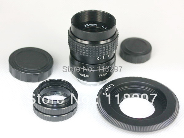 25mmf/1.4 CCTV Lens for m43 ep2 gf1 gh1+ C mount to Micro 4/3 m4/3 +2 Macro Rings(China (Mainland))