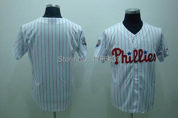 Free shipping Philadelphia Phillies Blank Baseball Jerseys wholesale in china cheapest(China (Mainland))