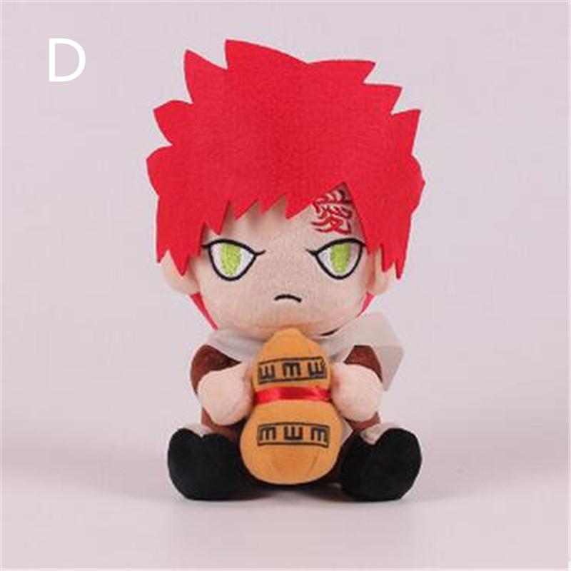 "[PCMOS] 2016 New 8"" Anime Naruto Uzumaki Kakashi Uchiha Itachi Gaara Plush Toy Stuffed Doll Gift Free Shipping 16051205-D(China (Mainland))"