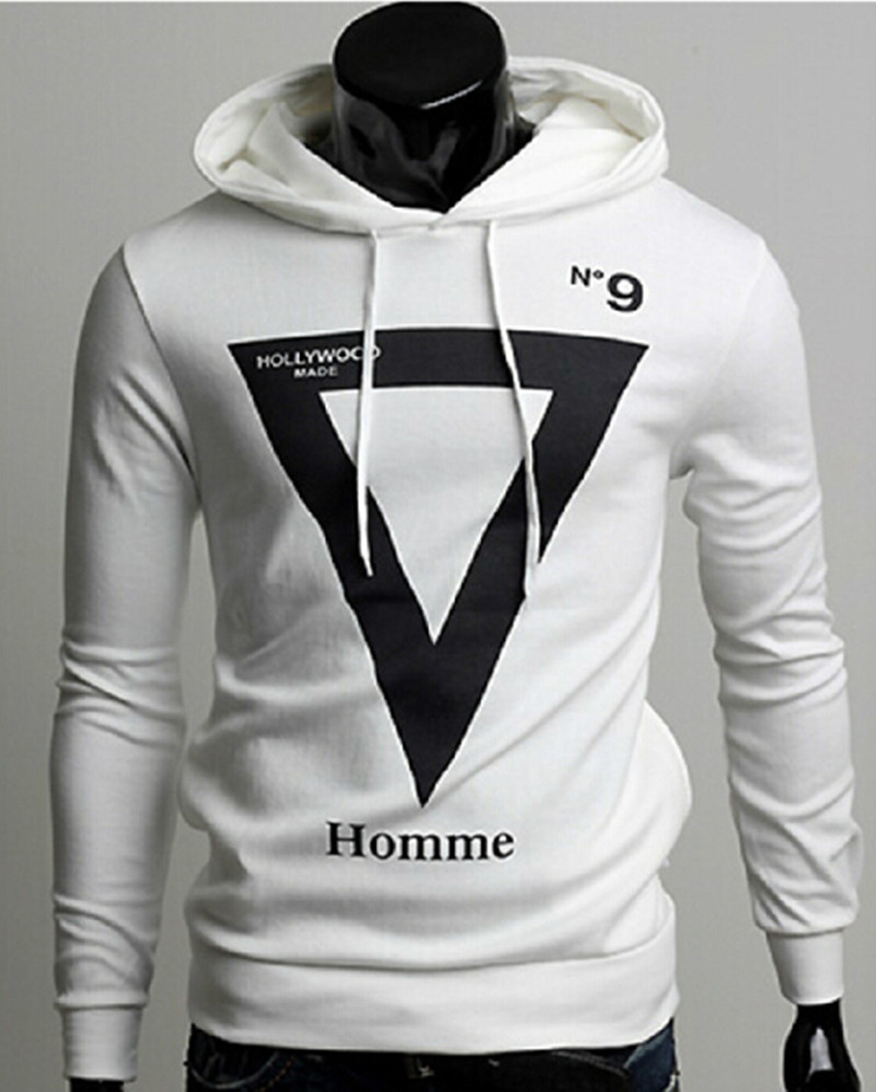 New Men's Fleece Jacket Men's Casual Hooded Fleece Geometric Patterns Black White oodie Nabla Design(China (Mainland))