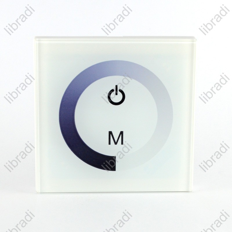 1pcs normal led touch panel controller dimmer wall switch ring 12v 24v 8a for led strip tm06 in. Black Bedroom Furniture Sets. Home Design Ideas