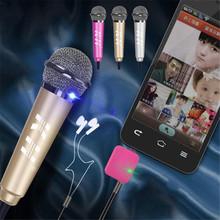 3.5mm Mini Home Singing Karaoke KTV MIC Studio Recording Condenser Microphone Mikrafon for Phone Computer Skype MSN chat