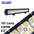 Oslamp 240W Cree Chips 7D Combo 23inch Led Light Bar with Running Light Offroad Driving Work