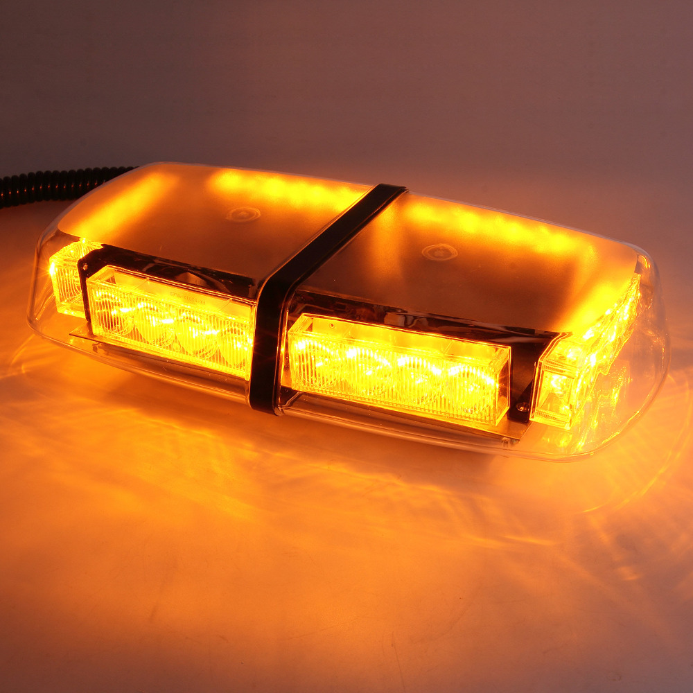 24 LED Car Roof Flashing Light Warning Amber Strobe Strong Magnetic Recovery Emergency Safety Beacons Hazard Light in Rain&Fog(China (Mainland))