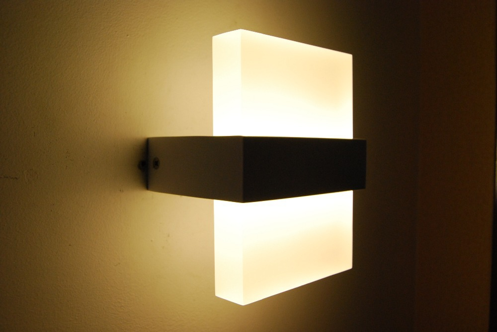 Modern wall light led bathroom bedroom lamp bedside for Wall mounted reading lights bedroom