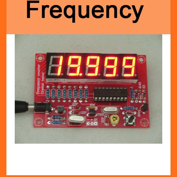 DIY Kits RF 1Hz-50MHz Crystal Oscillator Frequency Counter Meter Digital LED tester meter(China (Mainland))