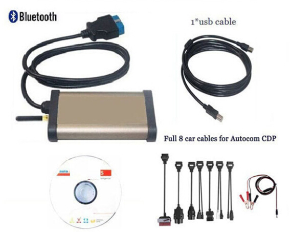 2015 Diagnostic tool TCS CDP Pro Plus+OKI CHIP+Bluetooth for Autocom Cars / Trucks ( Compact scan partner )+Full 8 car cables(China (Mainland))