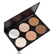 LS4G Hot Selling Professional 6 Color Pressed Powder Palette Nude Makeup Contour Cosmetic