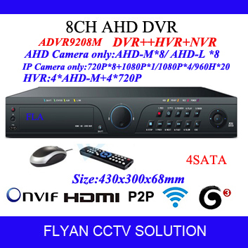 HD Hybrid 8CH AHD DVR 720P 960H Analog DVR 2CH Audio Support USB2.0 With 8Ch AHDM(720P) Realtime 8ch Playback With Hi3531 4 SATA<br><br>Aliexpress