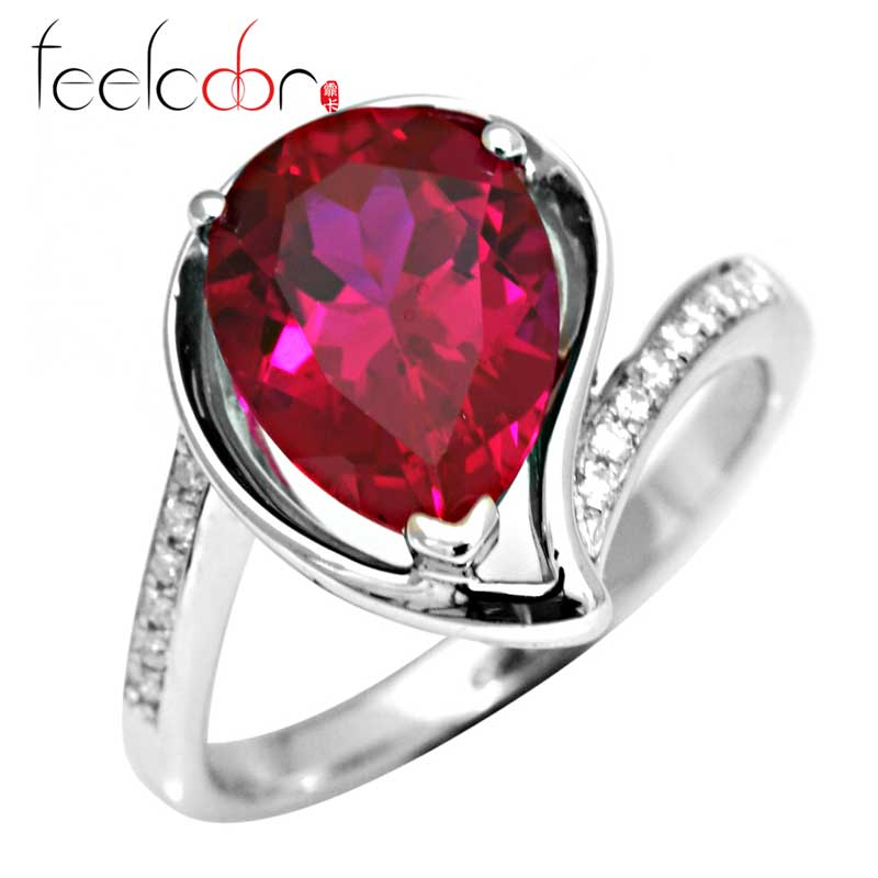 Wholesale Promotion Hot Fashionable Christmas Gift For Girls Top Quality 4ct  Ruby Ring 925 Sterling Silver Free Shipping<br><br>Aliexpress