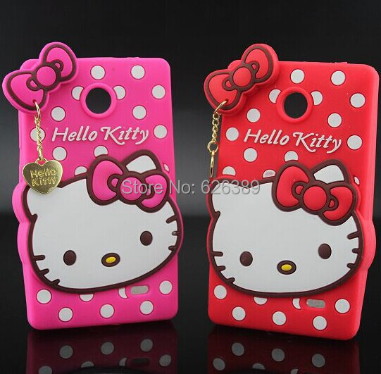 For Nokia X Dual SIM A110 1045 Hot Selling Hello Kitty Silicone Cell Phone Back Case Cover(China (Mainland))