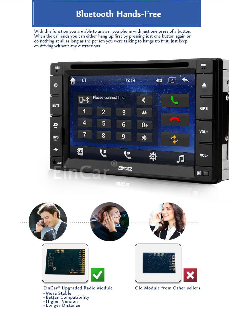 TWO 2 Din Car GPS Navigation in Dash Car DVD Player Car Stereo Touch Screen with Bluetooth USB SD MP3 Radio Car 8gb gps as Gift