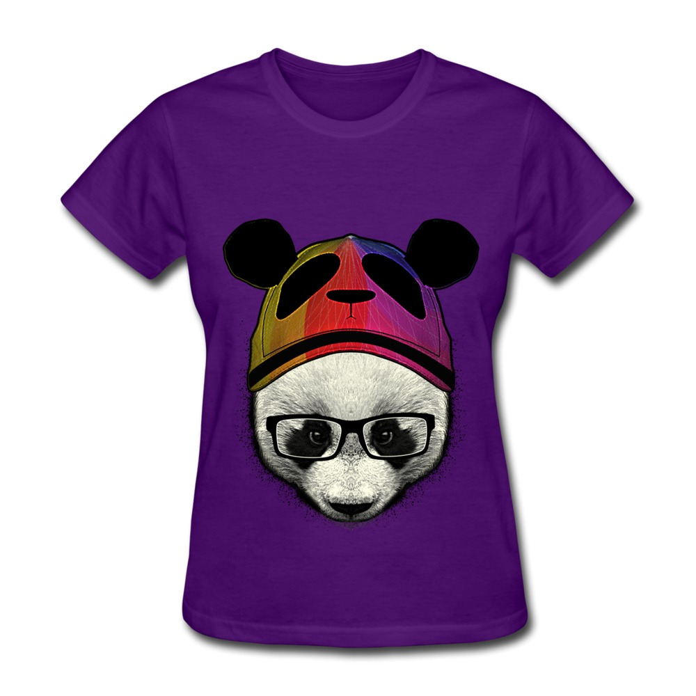 Unique design short sleeve t shirt women a cute panda Girl t shirts design