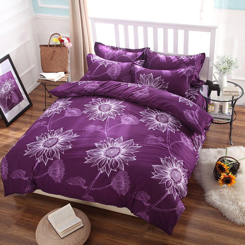 best dorm room bedding linen purple duvet covers queen size bed sheet