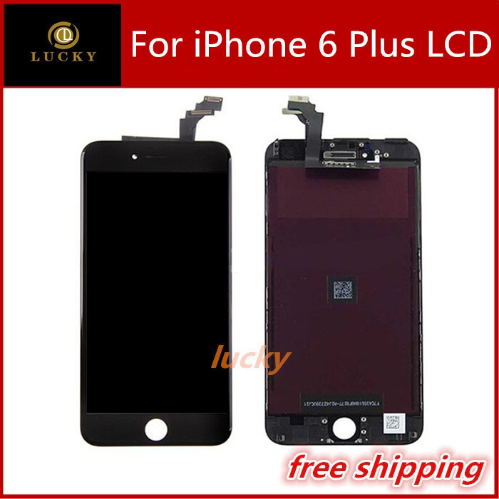 """10 PCS Free Shipping 5.5"""" LCD for iphone 6 plus lcd screen display with touch screen digitizer assembly replacement white black(China (Mainland))"""