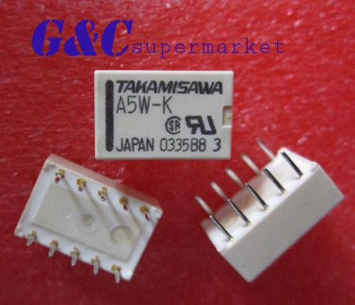 50PCS Relais Takamisawa A5W-K DIP-10 Relay 2x UM 5V Audio Signal(China (Mainland))